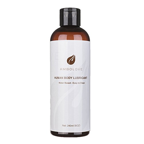 Water Based Sex Lubricant for Women Men Couple, AMBOLOVE Natural Personal Lube, 8 OZ Unscented Paraben-free Hypoallergenic Vegan-friendly