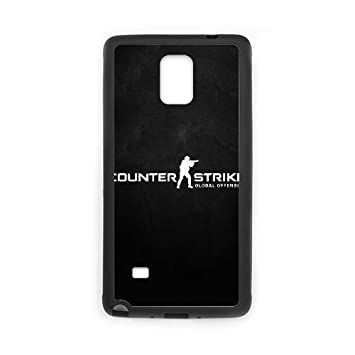 Counter Strike Logo 10338 Funda Samsung Galaxy Note 4 Funda caja del teléfono celular Negro F5D3QN Phone Case Clear Personalized: Amazon.es: Electrónica