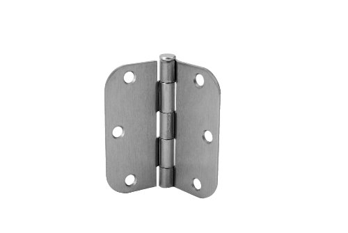 - Don-Jo RPB73535-58 .085 Gauge Steel Square Residential Hinge, Satin Nickel Plated, 5/8