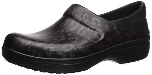 Crocs Women's Felicity Clog, Leopard/Black, 8 M US