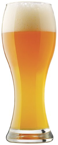 Libbey Craft Brews 23-Ounce Clear Wheat Beer Glass Set, 4-Piece