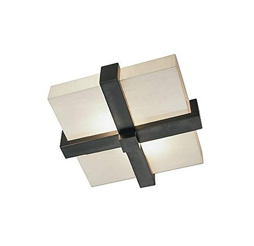 - Robert Abbey Z139 Flush Mounts with Marbleized Glass Shades, Deep Patina Bronze Finish