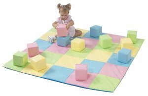 Patchwork Mat Pastel - Children's Factory CF321-132P Patchwork Crawly Mat in Pastel, 5