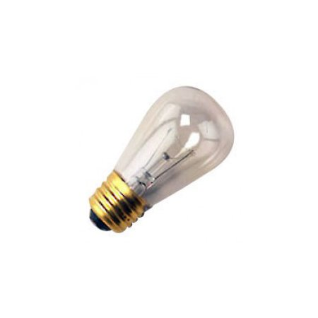25 Qty. Halco 11W S14 CL 130V Halco S14CL11 11w 130v Incandescent Clear Lamp - Base Medium S14 11w