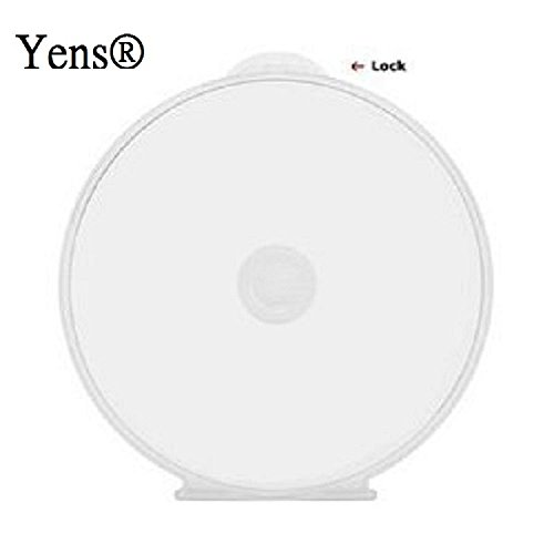 Yens 50Cshell 50 Round Clamshell CD DVD Case, Clam Shells with Lock, Clear