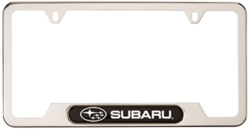 (SUBARU Genuine SOA342L127 License Plate Frame (Genuine, Polished Stainless, 1 Pack)