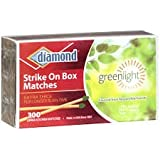 Diamond Wooden Matches, Kitchen Matches, Strike on Box Matches, 3 Boxes of 300 in each box for a total of 900 matches, Extra Thick for longer burn time.