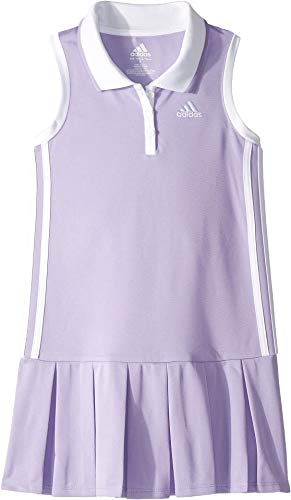 adidas Kids Baby Girl's Sleeveless Polo Dress (Toddler/Little Kids) Bright Purple 5