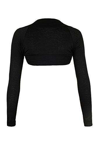 AO Tonsee Hose Concealer Trimming Cover Dark Circles Freckles Acne Cream Base12.5cm- Chaqueta de hombras para mujer manga larga. Tallas: S - L negro