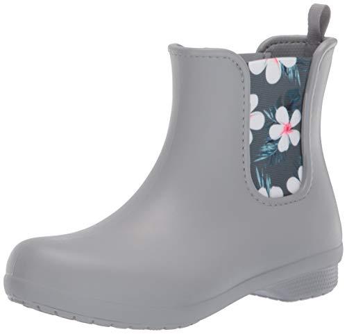 Crocs Women's Freesail Chelsea Rain Boot, tropical floral/light grey, 8 M US ()