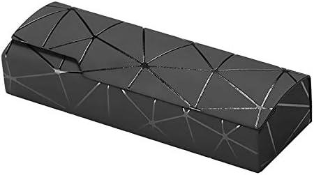 WXK Estuche de anteojos, Portable de la Manera del patrón del Enrejado Durable de la Caja Portable de los vidrios (Color : Black): Amazon.es: Hogar