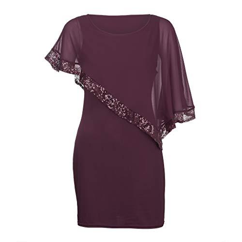 - WANQUIY Womens Plus Size Dresses Sequined Off Shoulder Asymmetric Chiffon Strapless Skirt Ladies Dress Wine