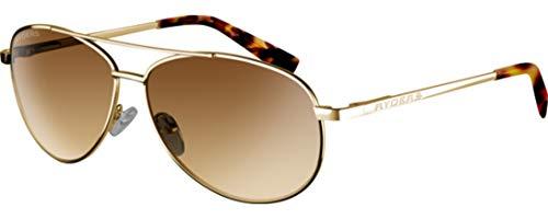 Ryders Aviator Polarized Sunglasses 100% UV Protection, Impact Resistant Sunglasses for Men, Women - Corsair (Gold Frame/Brown Lens)