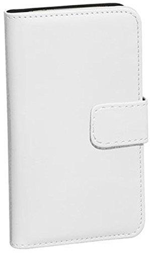 PEDEA Classic Bookstyle Case für Apple iPhone 6S Tasche mit Aufstellfunktion, weiß