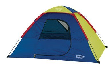 Wenzel Children's Sprout Two-Person Dome Tent, Green/Blue, 6 x 5-Feet