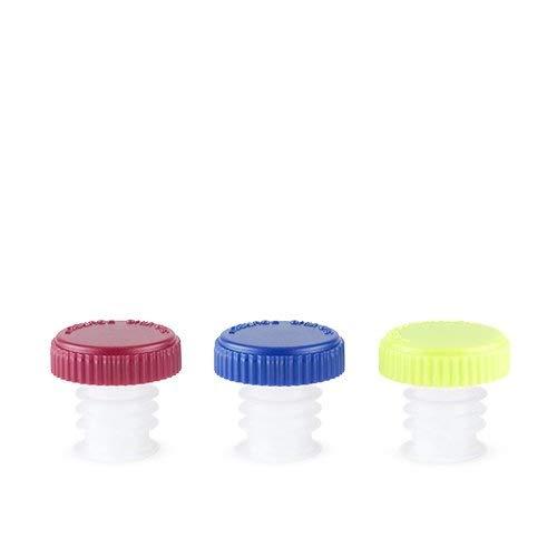Liquor Spout Pourer Assorted Color Cap Plastic Wine Pourer Stopper - Set Of 600 (Sold by Case, Pack of 600)