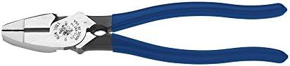 Klein Tools Lineman's Bolt-Thread Holding Pliers, 9-Inch D213-9NETH, Dark Blue