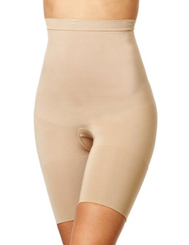 (Spanx Womens Slimcognito Shaping Bodysuit, L, Beige)