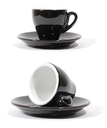 Nuova Point Milano Espresso Cups in Black (Pack of 6)