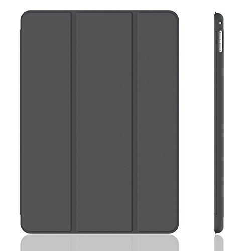 iPad Mini 4 Hülle, JETech Ultra Slim iPad Mini 4 Hülle Schutzhülle Etui Tasche mit Eingebautem Magnet für Einschlaf/Aufwach für Apple New iPad Mini 4 Veröffentlicht am 2015 Smart Case Cover (Dunkel Grau) - 3285