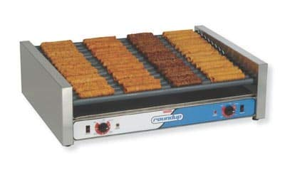 Roundup RR-50 50 Hot Dog Roller Grill - Slanted Top, 120v