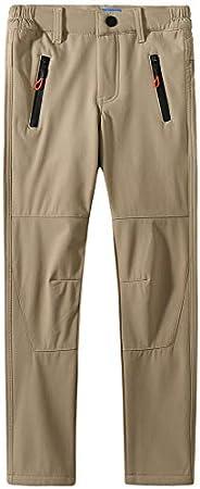 Camii Mia Kids Boys Fleece Hiking Pants Cargo Snow Pant Winter Ski Pants