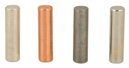 Eisco Labs Specific Gravity Metal Cylinder Set - Alum., Brass, Copper, and (Metal Cylinder)