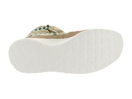 Nike Dames Rosherun Hi Sneakerboot Print Trainers 616724 200 Sneakers Schoenen Linnen Groen Glow Antraciet Linnen