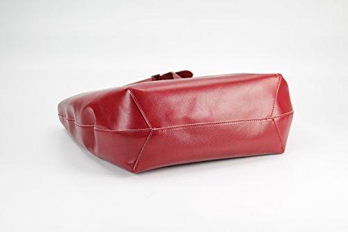 Belli - Bolso de asas de Piel para mujer Varios Colores - rojo oscuro