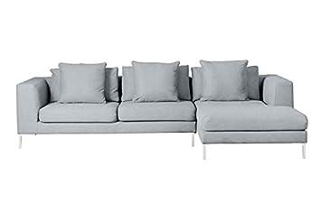 My-Furniture - Sofá Linear rinconero Derecho Malaga Steel ...