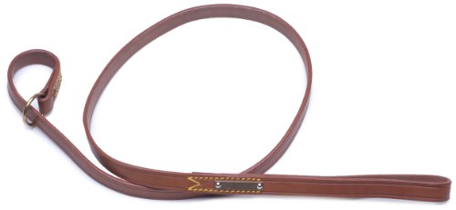 Petego La Cinopelca Classic Leather Choke Leash for Dogs, Brown, 1/2 Inches by 47 1/4 Inches