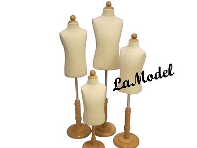 Children Body Dress Form Mannequin -- 4units (6mo,1-2yrs, 3-4yrs,6 - 8yrs) by LaModelDisplay