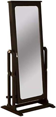 Lola Cheval Full Length Adjustable Mirror/Jewelry Wardrobe Black - Powell Company