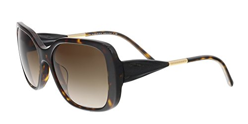 Burberry BE4192F 3002/13 Black/Brown Square - Sunglasses Square Burberry