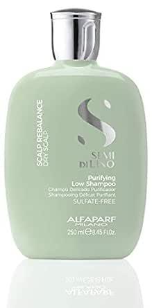 Alfaparf Milano Semi Di Lino Scalp Rebalance Shampoo for Dry Scalp - Sulfate Free Shampoo - For Excessive Oiliness and Flakes - Professional Salon Quality - 8.45 Fl Oz