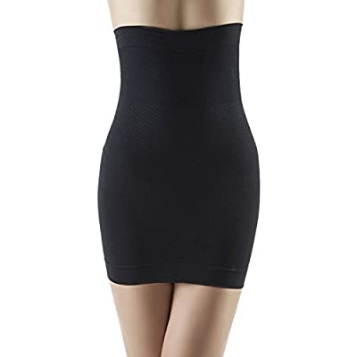 Panegy Women's High Waist Half Slip Body Shaper Dress Tummy Control Waist Cincher