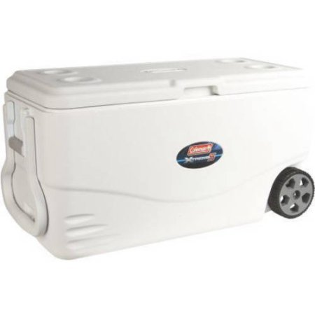 Coleman 100 qt Xtreme 5-Wheeled Cooler, Holds 160 Cans