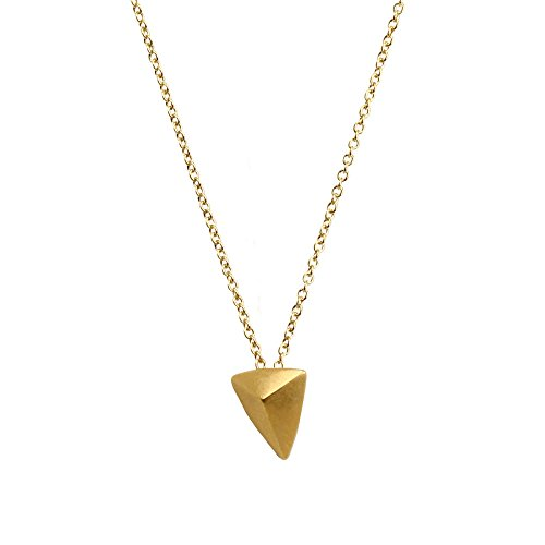 A Dogeared Make Necklace Wish (Dogeared You are Mighty Pyramid Necklace in Gold Dipped, MRGG100803800)