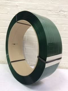 Green 5//8 4,000 Ft Polyester Strapping 1,600lb Tensile Strength