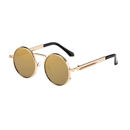 de Gusspower redondo retro para sol metálico círculo C estilo hombres mujers y gafas polarizadas Steampunk inspirado B1wx8qB