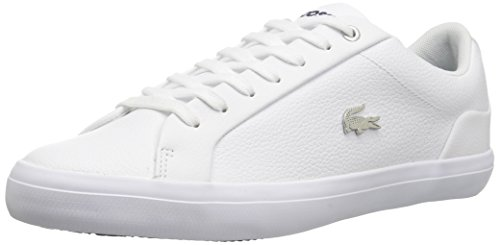 Lacoste Men's Lerond Sneakers,White Navy Leather,10 M US (Sneakers Lacoste White)