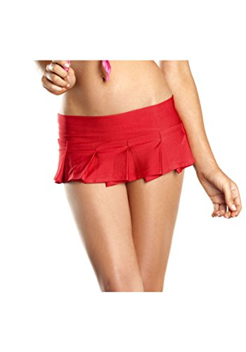 Adult Women Solid Color Pleated Mini Skirt Sexy Lingerie