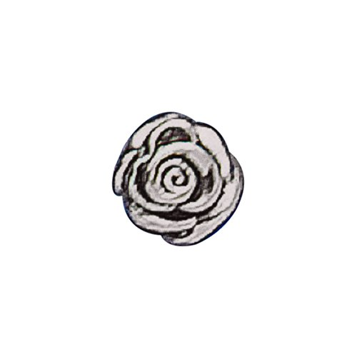925 Sterling Silver 3D Rose Spacer Bead
