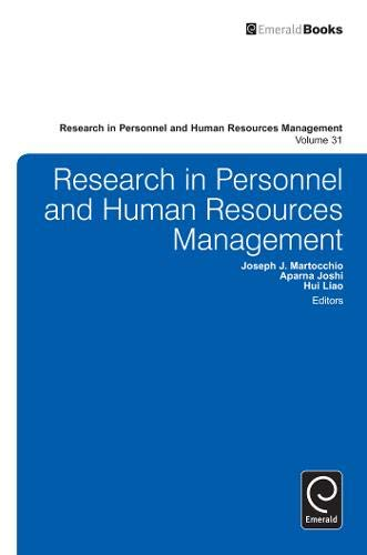 Research in Personnel and Human Resources Management: 31