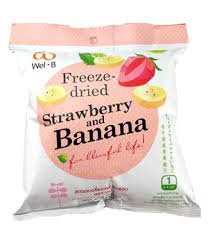 rry+Banana, Freeze-dried Fruit Snack Unsweetened and 0% Fat, Real Healthy Snack 16g.(Pack 2 pcs.) ()
