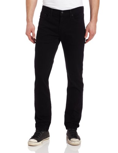 Levi's Men's 511 Slim Fit Jean, Black - Stretch, 29W x 34L
