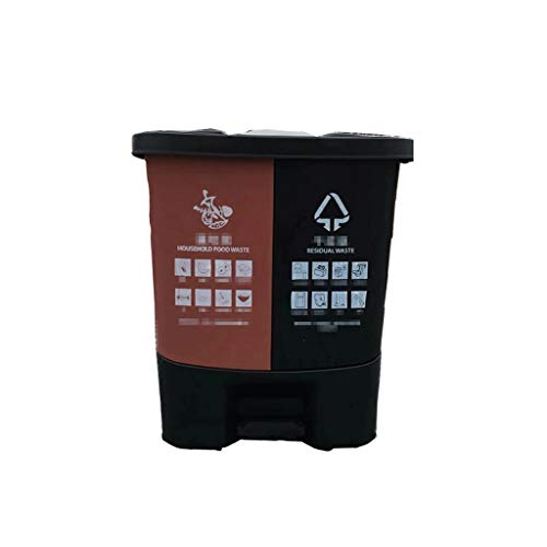 Trash can Trash Can Classified Waste Bucket Indoor Outdoor Classified Splicing Trash Can Waste Bin (Size : 40L)