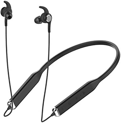 Active Noise Cancelling Headphones, NYZ Noise Reduction Earphones in-Ear Bluetooth Stereo Earbuds with Microphone Volume Control Magnets 10 Hours Playtime Latest Version