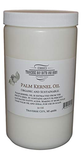 Palm Kernel Oil Soap - Palm Kernel Oil, Soap Making Supplies. Organic, Sustainable 32 fl oz. DIY Projects.