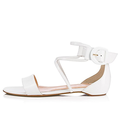 amp; Office amp; Size Shoes 39 White Party Fall Spring Low Dress Sandal Heel Summer Women's White Color Career Evening for PU 6xwOHHCq